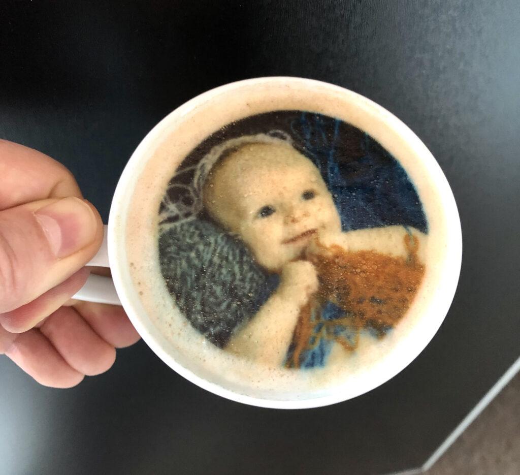 fotka na kávu kávě pěně pěna